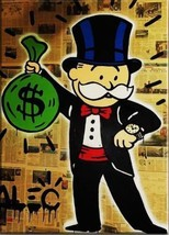 Alec Monopoly Oil Painting on Canvas Graffiti art wall decor Luxury watch - $29.69