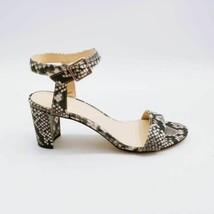 Nine West Womens Pixel Ankle Strap Sandals Black Snakeskin Block Heels 7... - $35.05