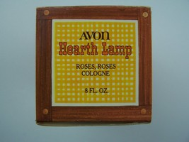 Avon Decanter Hearth Lamp Roses Roses Cologne Bottle Original Box Vintag... - $6.82