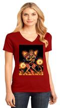 Carol Danvers aka Captain Marvel District Made Ladies V-Neck T-Shirt Size XS-4XL - $19.99+