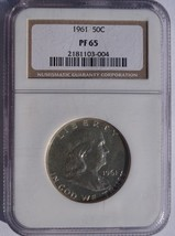1961 Franklin Half Dollar Silver Proof NGC PR65 Certified - $34.99