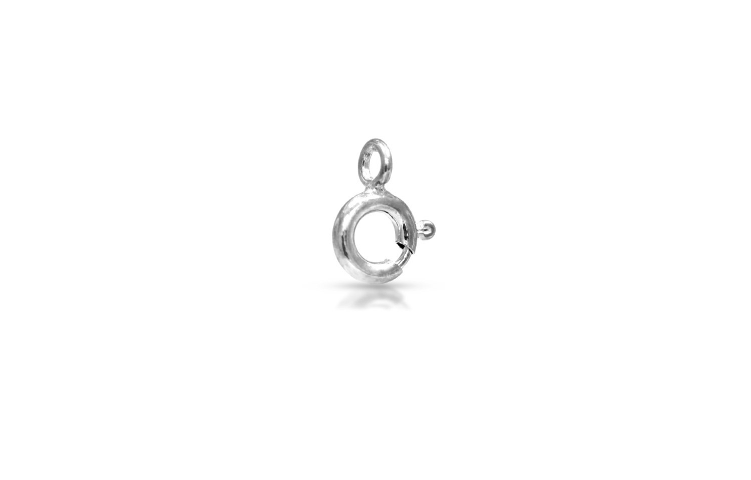 Primary image for Clasps, Spring ring w/ Closed ring, Sterling Silver, 5mm, Pkg Of 20pcs (6114)/1