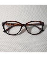 New Betsey Johnson +2.00 Cat Eye Reading Glasses Brown Tortoise Pinup Retro - $37.09