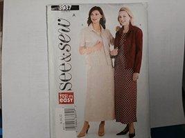 Butterick See & Sew Sewing Pattern 3937 Woman's Dress Jacket 8-10-12 - $8.33