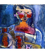 Paul Klee 3 Girl with Jugs Woman in Blue Post Modernist Graphic Painting... - $14.90