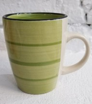 Gibson Designs COLOR VIBES Green Coffee Mug Tea Cup Excellent Condition FastShip - $11.83
