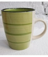 Gibson Designs COLOR VIBES Green Coffee Mug Tea Cup Excellent Condition ... - $11.83