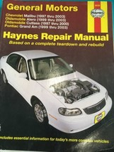 CHEVROLET Chevy Malibu 1997-2003 Haynes Manual 38026 Repair OLDSMOBILE P... - $15.32
