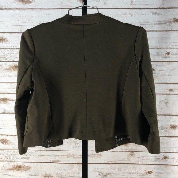 Women's Anthropologie Cartonnier Army Green Cropped Jacket, EUC, M (W14257)