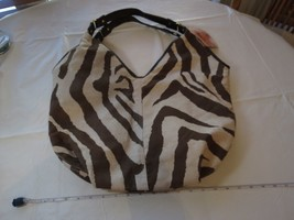 Jessica Simpson's Fancy Zebra Tote Hobo Women's LARGE Purse Bag NEW lightweight - $27.31