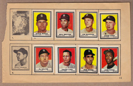 LOT OF 8: 1962 Topps stamps Detroit Tigers on album page Kaline Bunning Cash - $11.95