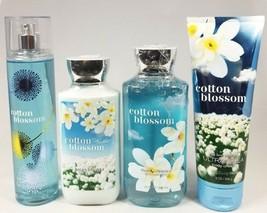 Bath Body Works COTTON BLOSSOM Fragrance Mist Body Lotion Gel / Wash Cre... - $82.01