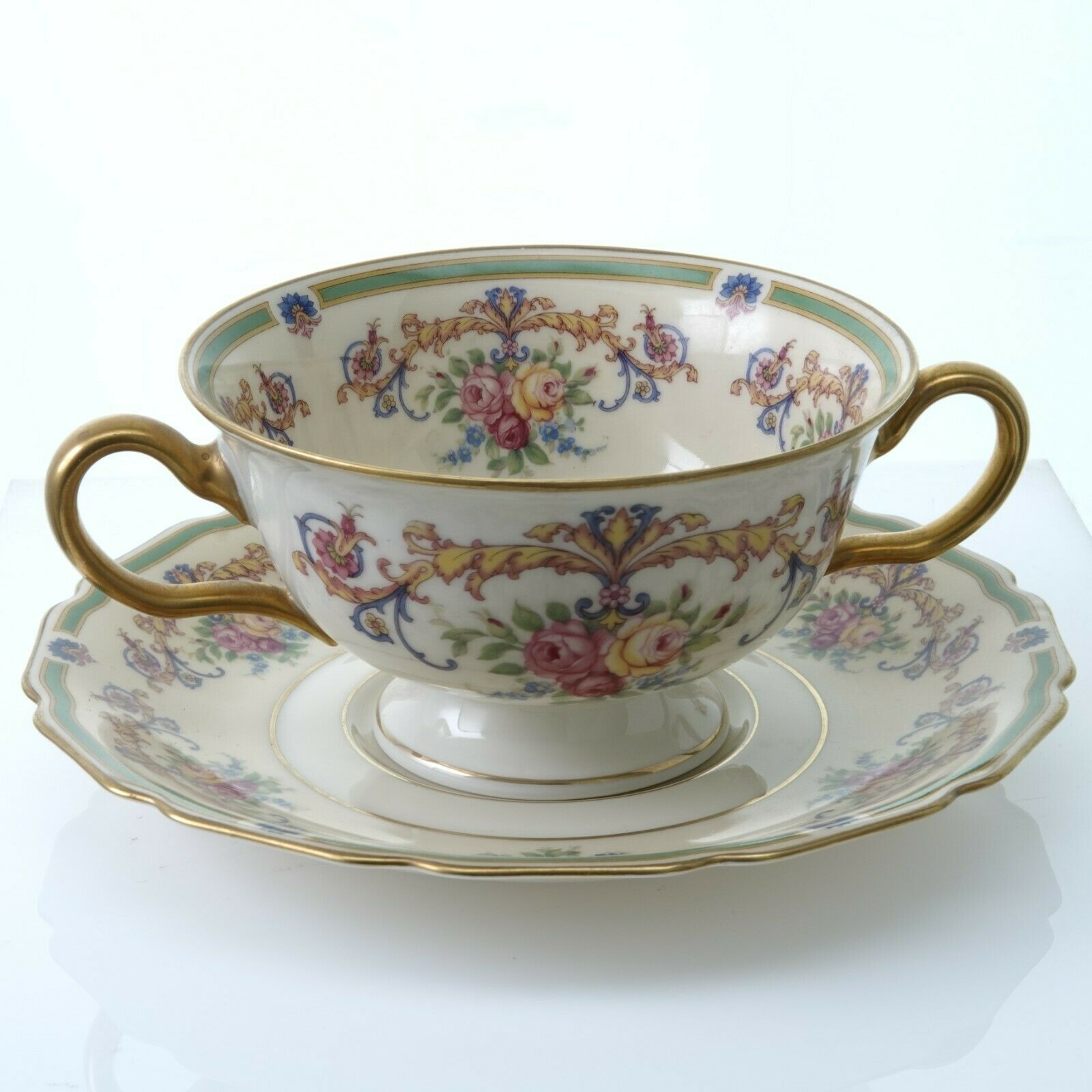 Primary image for Rosenthal WESTBURY Two Handled Bouillon Cup and Saucer (Multiple Available)