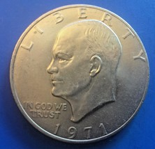 1971 $1 Eisenhower AU - £3.95 GBP