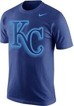 Nike Kansas City Royals Project Fireworks KC Logo Men's T-Shirt MEDIUM Blue NEW - $38.00