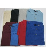 Men's Golf Shirt Harbor Bay Brand 2XL Big 5 PC 4 Color 100 % Cotton - $39.19