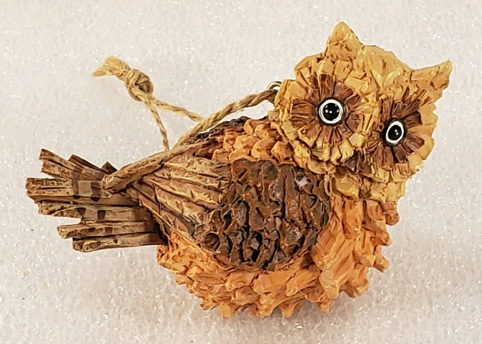 Primary image for Sitting Owl Brown Tan 3d Textured Resin Craft Ornament