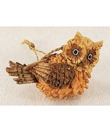Sitting Owl Brown Tan 3d Textured Resin Craft Ornament  - $14.53
