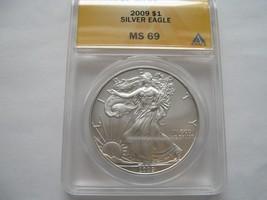 2009 , Silver Eagle , Anacs , MS 69 - $65.00