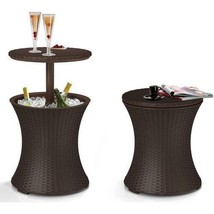 Outdoor Bar Cooler Table Patio Pool Deck Party 7.5-Gal Ice Cool Rattan S... - €72,65 EUR
