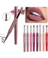 20 color matte lipstick lip liner 2 in 1 brand makeup lipstick matte dur... - $20.30+