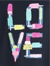 Gap Kids Girls T-shirt Top 4 5 Graphic Green Gray Navy Blue Long Sleeve Crew New image 4
