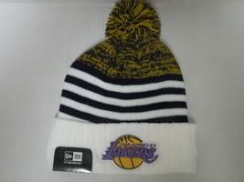 New Era NBA Los Angeles Lakers Coach Cuffed Knit Beanie Cap with Pom - $19.79