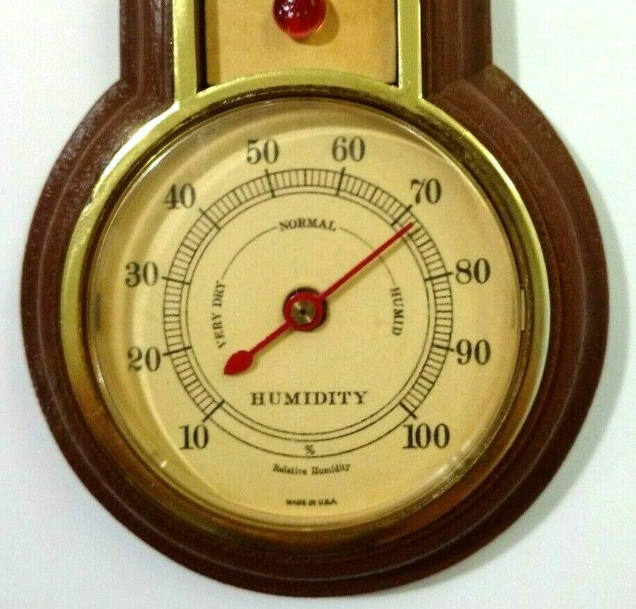 Springfield Instrument Co Thermometer Humidity Brown Plastic Made in USA image 3