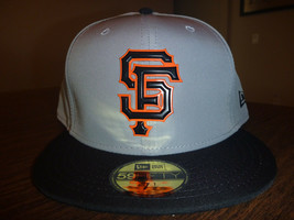 SAN FRANCISCO GIANTS NEW ERA 59FIFTY BP PROLIGHT GRAY/BLACK FITTED HAT S... - $24.99