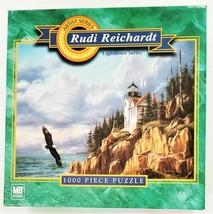 "Hasbro Jigsaw Puzzle Rudi Reichardt ""Bass Harbor Head Lighthouse"" 1000 Pcs"