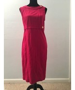 Talbots Women's Dress Size 8 Pink Sleeveless Gold Button Sheath New MSRP... - $49.49