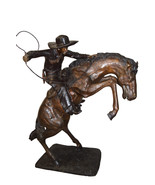 """Bronco Buster Giant Bronze Statue -  Size: 65""""L x 52""""W x 64""""H. - $6,750.00"""
