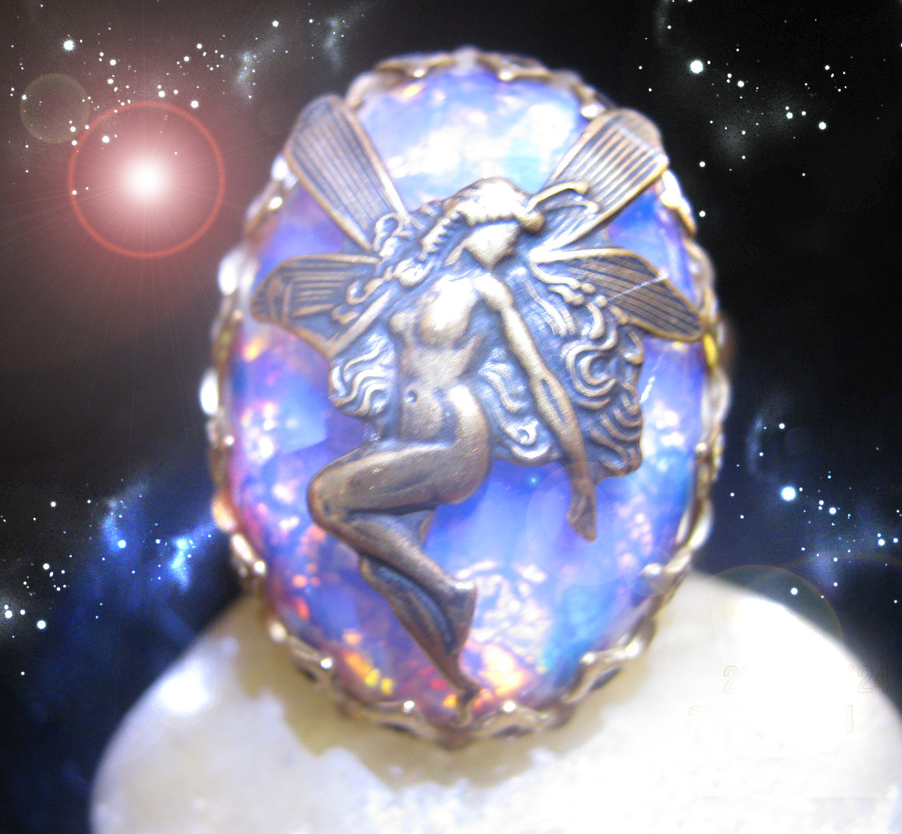 Primary image for HAUNTED RING ALEXANDRIA'S UNCLOUD THE BEST MAGICKAL PATH SECRET OOAK MAGICK