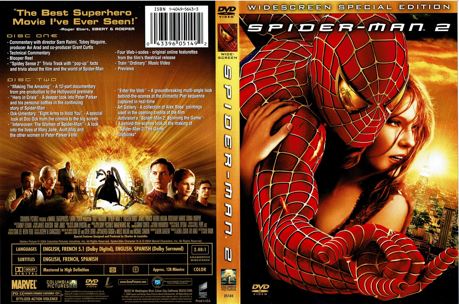Spider-Man 2, Widescreen Special Edition, Two Disc , 2004