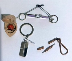 4 Retro Keychains Purple Glasses Bug in a Box Clinique Mini Screwdrivers - $19.00