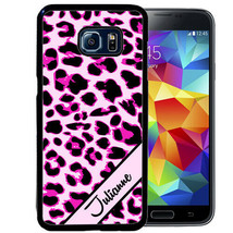 PERSONALIZED RUBBER CASE FOR SAMSUNG NOTE 8 5 4 3 PINK LEOPARD CHEETAH - $12.98