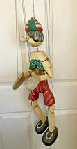 """Vintage ~ Hand Carved Wood ~ Pinocchio Marionette / Puppet ~ 26"""" tall - $169.00"""