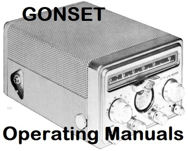 Gonset Operating Manuals * Adobe PDF * CDROM