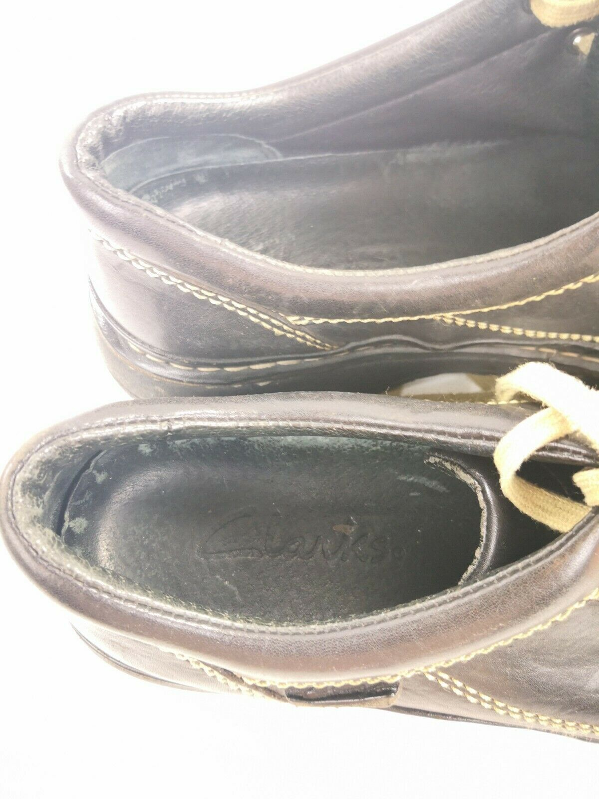 Clarks Black Leather Oxford Active Air Shoes 30089 Mens Size 10.5 M