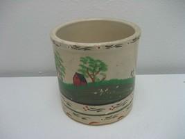 Antique Vintage Stoneware Farm Scene Pottery Cr... - $19.75