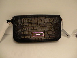 DKNY crossbody bag croco embossed leather new - $98.95
