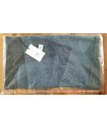 West Elm Lumbar Pillow Cover EILEEN FISHER 20x12 Upcycled Denim Indigo N... - $39.99