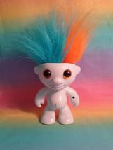 2013 WowWee Elektrokidz Electronic White Dancing Hair Troll Orange & Aqu... - $7.87