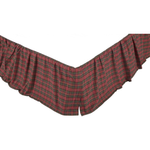 Tartan Red Plaid Bed Skirt - All Sizes Available - Vhc Brands