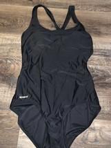 Speedo ~ Women's Black Solid One-Piece Swimsuit Bathing Suit ~ 10 - $14.01
