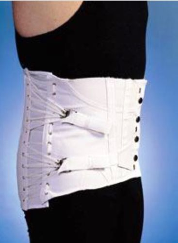 Orthopaedic Corset New In Box Mens Size 38 White Lace Up Waist Training