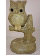 "Owl on Tree Branch Figurine 8 1/2"" - $29.69"