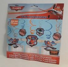 12 Pieces Disney Pixar Planes Swirl Decorations Party Birthday Celebration - $2.00