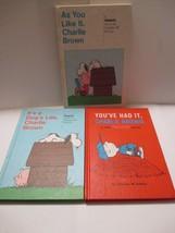 3 Vintage Peanuts Charles Schultz Weekly Read Hardback Books - $9.89