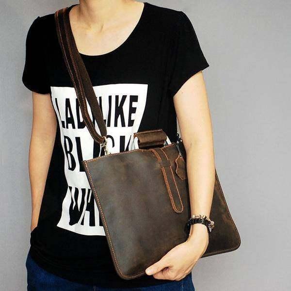 On Sale, Handmade Men Shoulder Bag,Horse Leather Men Tote, Messenger Bag image 2